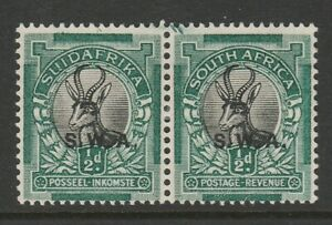 South West Africa 1930-31 Roto ½d with Green marks in margin R 1/4 SG 68 Mint.