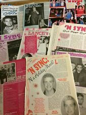 N Sync, Lot of TEN Full and Two Page Vintage Clippings