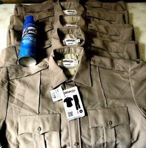 Elbeco Tex Trop Security Enforcement Performance Shirt Lot (5) Mens 16.5 New Tag