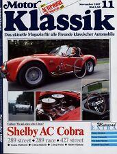 Motor Klassik 11/87 1987 Opel Kadett GT/E Shelby AC Cobra 289 Norton Commando
