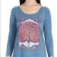LUCKY BRAND NEW 3/4 Sleeve Graphic Tee Womens Top Size S