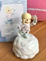 NEW Precious Moments Girl With Snowflake Rotating Musical Figurine # 990012