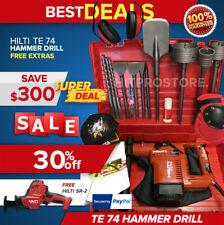 Hilti Te 74 Hammer Drill Preowned Free Hilti Reciprocating Saw Bits Amp Extras
