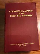 Grammatical Analysis of Greek New Testament - Zerwick, Nice