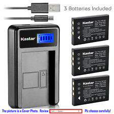 Kastar Battery LCD Charger for Panasonic SV-AV20 SV-AV25 SV-AV30 SV-AV35 Camera