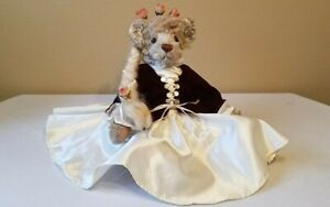 """Annette Funicello Bear Co. 17"""" Rapunzel Mohair Bear - Teddy Tales Collection"""