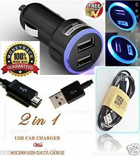 USB CABLE FOR GALAXY S6 S2 S3 S4 S5 MINI NOTE 4 + DOUBLE USB IN CAR CHARGER