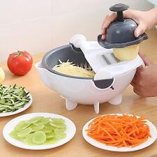 Multifunctional Vegetable Cutter with Drain Basket Kitchen Grater Slicer