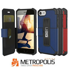 UAG Urban Armor Gear Rugged Metropolis Book Case Cover Black iPhone 7 / 8 Plus
