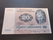 DENMARK 1972-79 ISSUE - 20 KRONER P49h DATED 1988  -  UNCIRCULATED