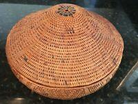 Beautiful Round Hand-Woven Basket With Domed Lid, Karangasem, Bali - MB158