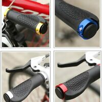 Ergonomic Rubber Mountain Bike Bicycle Handlebar Grips Cycling Lock-On Ends 6v
