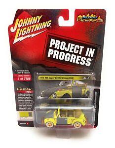 Johnny Lightning 1:64 1975 Yellow Volkswagen Super Beetle Model JLSP145 A chase