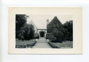 Nahant MA Mass RPPC real photo, Public Library, vintage postcard, Joyce Studios