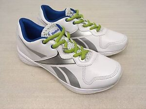 REEBOK DYNAMIC STEP 3 LOW FITNESS GYM TRAINERS UK 5 WHITE SILVER NEW RRP £59.99