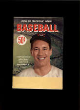 1950'S HOW TO IMPROVE YOUR BASEBALL BOB FELLER LOT1156
