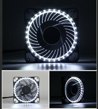 Solar Eclipse White LED PC Case Cooling Fan DC 12V 120mm x 120mm x 25mm 4.7 inch