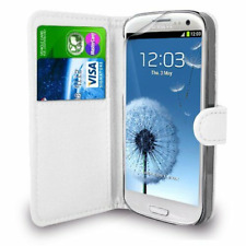 SAMSUNG GALAXY S4 Mini PU Cuero Billetera Funda Estilo Libro ** ** Blanco