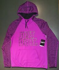 NWT- Women's Nike Therma-Fit Pullover Hoodie Size Medium. NIKE JUST DO IT Hoodie