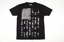 UNIVIBE BLACK XL AMERICAN FLAG USA CAMO ART TSHIRT MENS NWT NEW