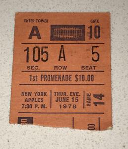 NYC New York Apples vs Lobsters WTT Tennis Match Used Ticket Stub MSG 6/15/1978