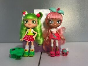 Shopkins Shoppies Lot of 2 Dolls with accessories