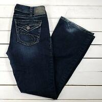 Silver Jeans Suki Surplus Womens 31x32 Dark Wash Mid Rise Bootcut Boot Cut J85