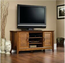 "TV Stand Entertainment Media Center Sauder Milled Cherry Console Wood 47"" New"
