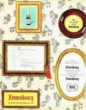 Publicité Advertising 087  1964  la bière Kronenbourg  Tradition France