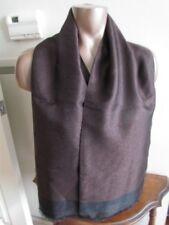 "XL 54"" Double Layer Men Silk Vintage Scarf Ascot Opera Dark rust Black"