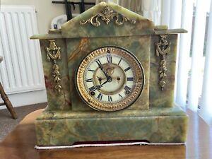 ansonia clock - Green Onyx Patented June 14 1881, New York