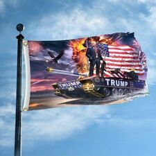 Trump Tank Digital Print 3x5' Flag Donald Trump 2020 Keep America Great Maga Kag