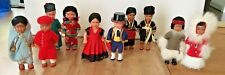 International Dolls of the World Vintage Set of 10 Celluloid Traditional Dress