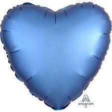 Amscan - Azure Heart Satin Luxe Standard HX Foil Balloons S15