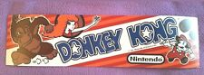Donkey Kong marquee sticker. 2.5 x 9.5. (Buy any 3 stickers, GET ONE FREE!)