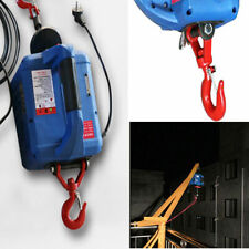 450KGX7.4 M Portable Household Electric Hoist Winch W/ Wireless Remote 110V New