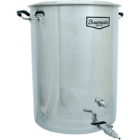 25 Gallon Brewmaster Stainless Steel Brew Kettle 2 Ports Beer Moonshine w/ Valve