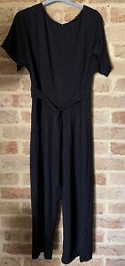 Sussan Size Large Black Stretch Jumpsuit New
