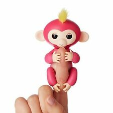 Fingerlings Interactive Baby Monkey Bella Pink with Yellow Hair By WowWee New