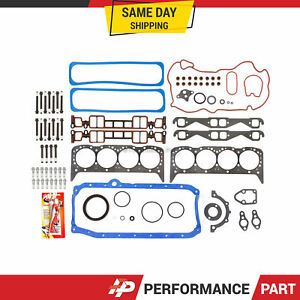 Full Gasket Set Head Bolts for 96-00 Cadillac GMC Chevrolet 5.7L OHV VORTEC