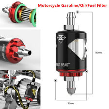 T6063 Aluminum Motorcycle Gasoline/Oil/Fuel Filter Prevent Impurities Universal