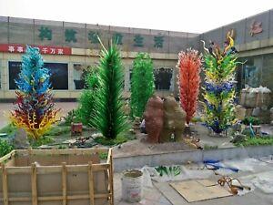 Large Hand Blown Art Glass Sculpture for Garden Public Space Decor