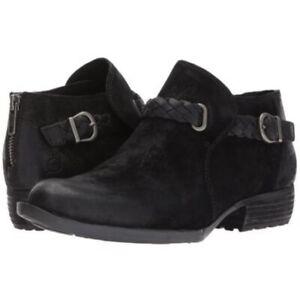 BORN SYLVIA  ANKLE BOOTS WOMENS BLACK Size 7 M NEW NIB