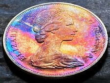 1965 Canada Silver $1 Dollar Coin - Brilliant UNC - Beautiful Rainbow Toning