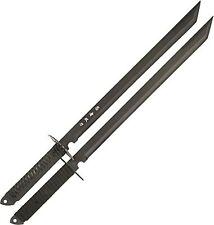 BladesUSA HK-6183 Twin Ninja Swords, Two-Piece Set, Black 28-Inch Free Shipping