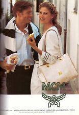 1994 MCM Logo FCF Florence Cromer Fashions Purse Handbag Vintage Print Ad 1990s