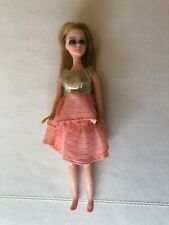 Vintage Topper Fashion Show Dawn Doll Pink Gold Lame Dress H11A Very Nice!