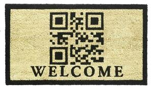 QR Code Welcome Printed Coir Door Entrance Mat LARGE 40x70 cm CLEARANCE SALE