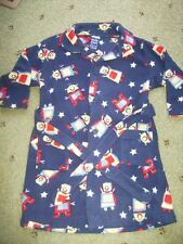 Size 2 Boys Navy Robot Dressing Gown.