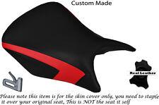 DESIGN 2 RED CUSTOM FITS HONDA CBR 500 R 13-15 RIDER LEATHER SEAT COVER